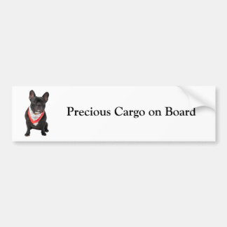 French Bulldog cute photo custom bumper sticker