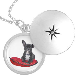 French Bulldog cute puppy photo locket