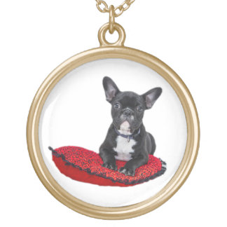 French Bulldog cute puppy photo necklace