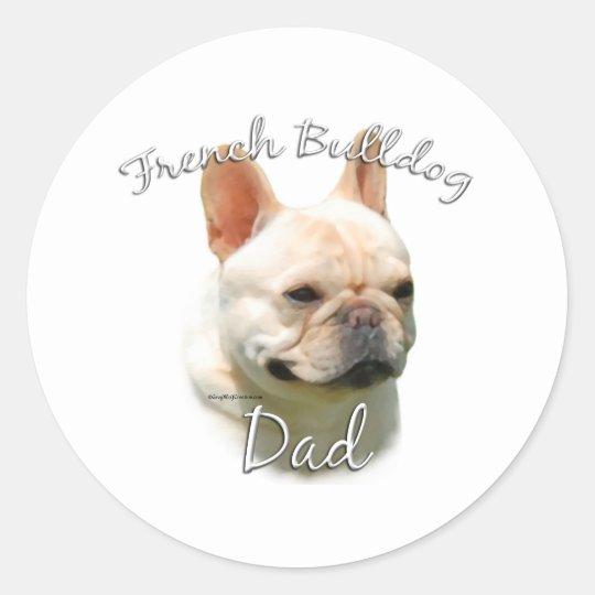 French Bulldog Dad 2 Classic Round Sticker