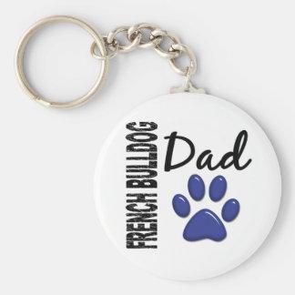 French Bulldog Dad 2 Keychain