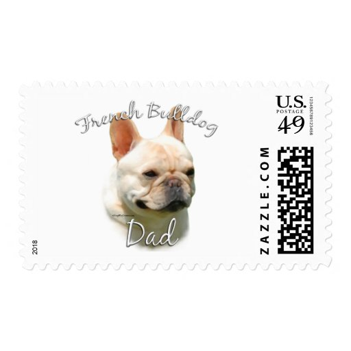 French Bulldog Dad 2 Postage Stamps
