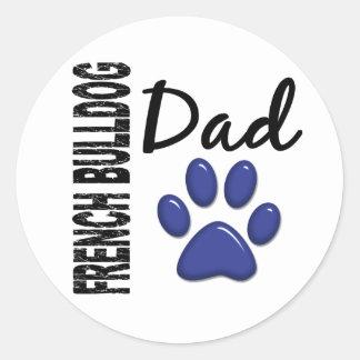 French Bulldog Dad 2 Round Stickers