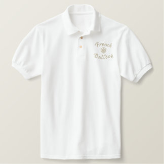 French  Bulldog Dad Gifts Embroidered Polo Shirt