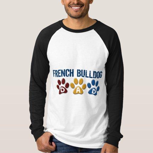 FRENCH BULLDOG Dad Paw Print 1 T-shirts