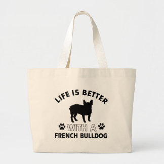 French Bulldog designs Large Tote Bag