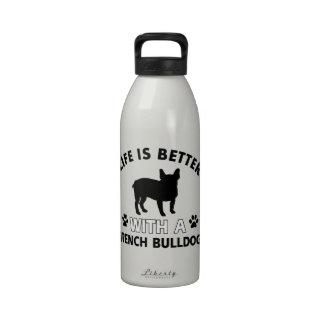 French Bulldog designs Reusable Water Bottle