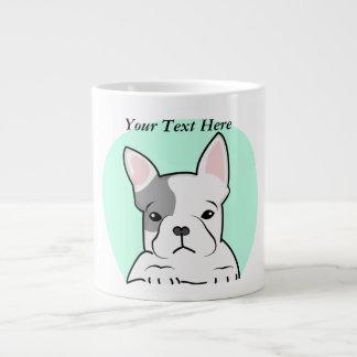 French Bulldog, Digital Illustration, Dog Large Coffee Mug