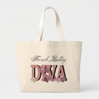 French Bulldog DIVA Tote Bags