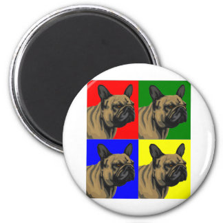 French Bulldog Does Primary 2 Inch Round Magnet