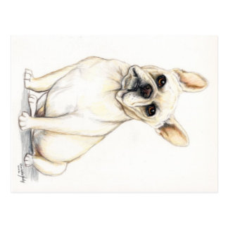 French Bulldog Dog Art Postcard