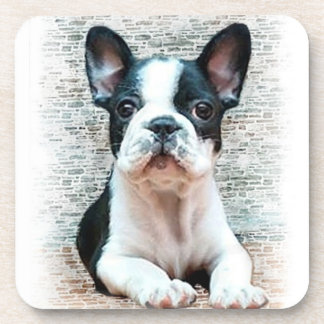 French bulldog dog beverage coaster