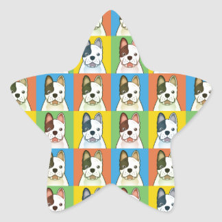 French Bulldog Dog Cartoon Pop-Art Star Stickers