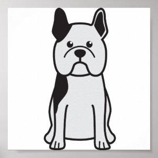 French Bulldog Dog Cartoon Posters