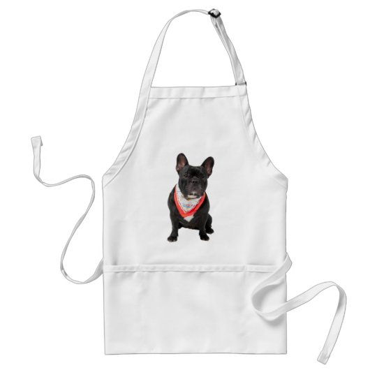 French bulldog, dog cute beautiful photo, gift adult apron