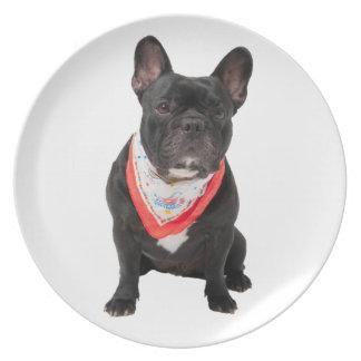 French Bulldog, dog cute beautiful photo, gift Dinner Plate