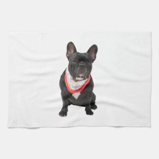 French Bulldog, dog cute beautiful photo, gift Kitchen Towel