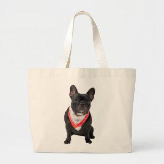 French Bulldog,  dog cute beautiful photo, gift Large Tote Bag