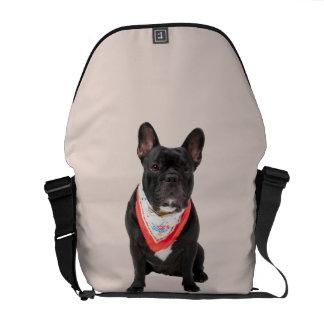French Bulldog, dog cute beautiful photo, gift Courier Bags