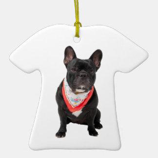 French Bulldog, dog cute beautiful photo, gift Christmas Tree Ornaments