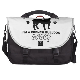 French bullDog Dog Daddy Laptop Bag