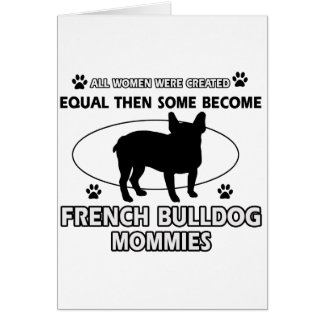 french bulldog  dog designs card