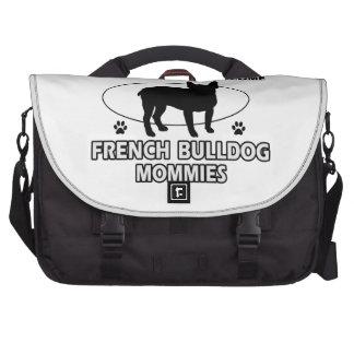 french bulldog  dog designs commuter bag