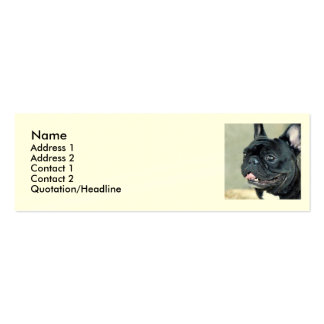 French Bulldog dog Double-Sided Mini Business Cards (Pack Of 20)