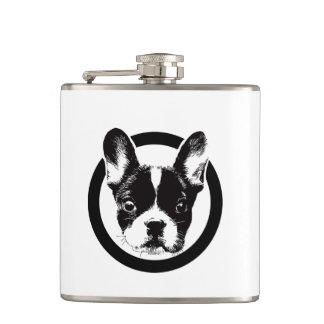 French Bulldog Dog Face Flask