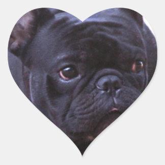 French Bulldog dog Heart Sticker