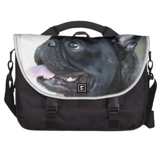 French bulldog dog laptop messenger bag