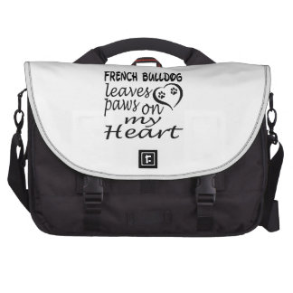 French Bulldog Dog Leaves Paw On My Heart Laptop Computer Bag