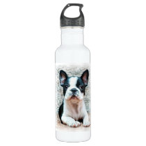 French bulldog dog stainless steel water bottle
