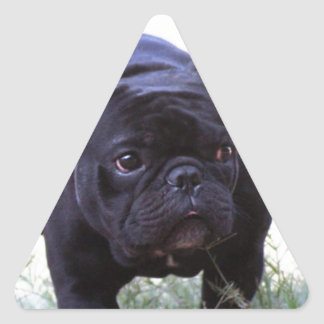 French Bulldog dog Triangle Sticker