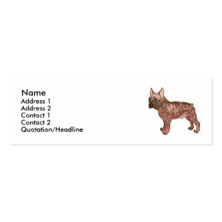 French Bulldog  Double-Sided Mini Business Cards (Pack Of 20)