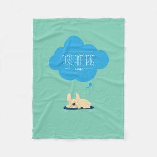 French Bulldog Dream Big Fleece Blanket