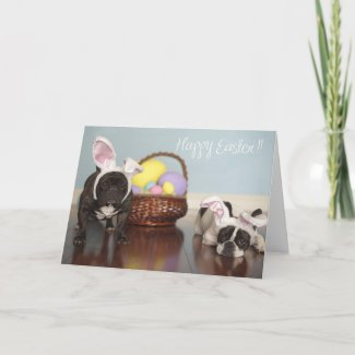 French Bulldog Easter Card! card