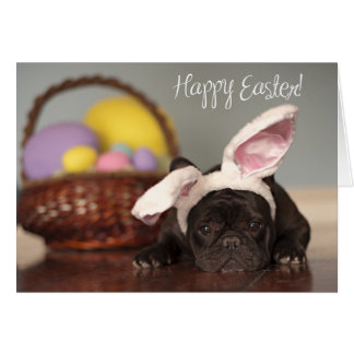 French Bulldog Easter Card