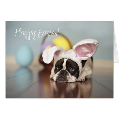 French Bulldog - Cute Easter Greeting Card