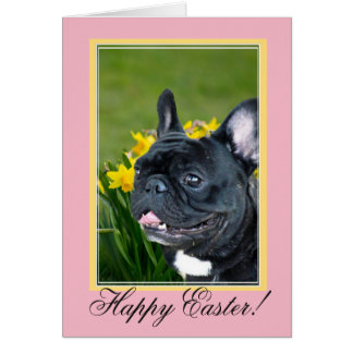 French Bulldog Easter dog greeting card