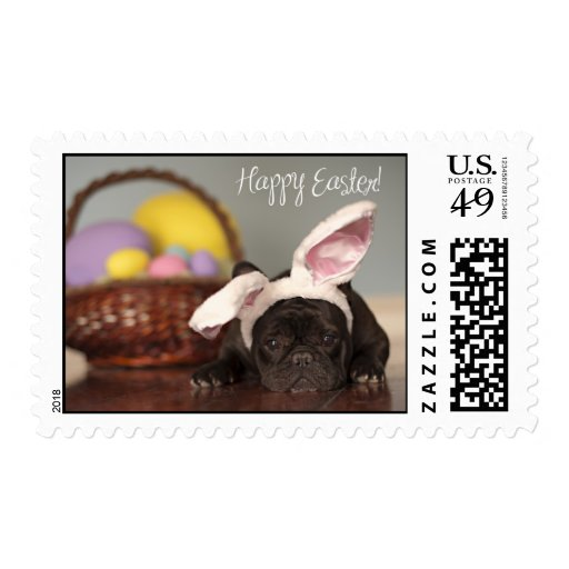 French Bulldog Easter Stamps