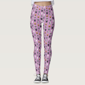 French Bulldog faces leggings