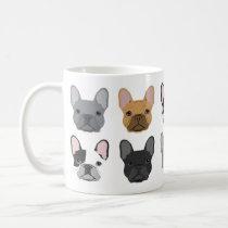 French Bulldog faces mug - cute frenchie mug