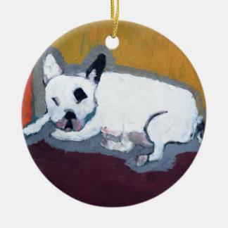 French Bulldog Fauve Painting Ceramic Ornament