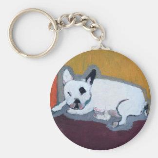 French Bulldog Fauve Painting Keychain