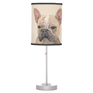 French Bulldog (Fawn Pied) Painting - Dog Art Table Lamp