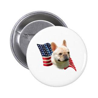 French Bulldog Flag Pin