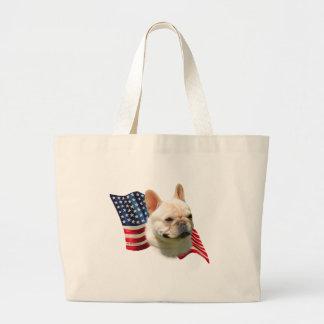 French Bulldog Flag Large Tote Bag