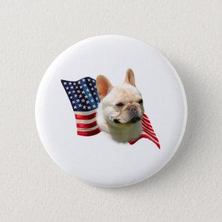 French Bulldog Flag Pinback Button