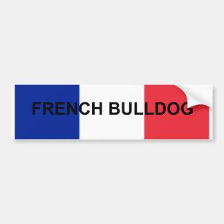 french bulldog France flag.png Bumper Sticker